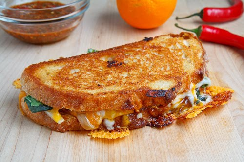 grilled cheese sandwich salsa tomato soup