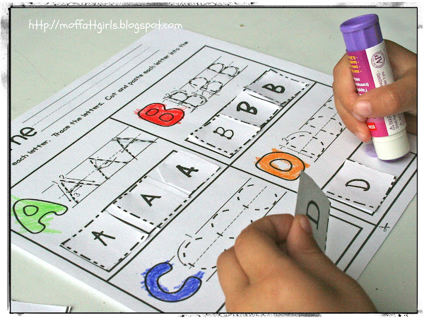 Free Printable ABC Cut and Paste