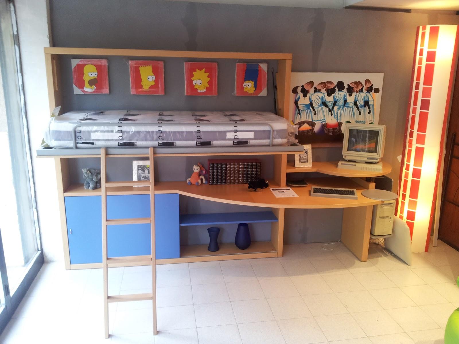 Liquidaci n cama plegable con escritorio por 499 00 muebles industria - Cama plegable escritorio ...