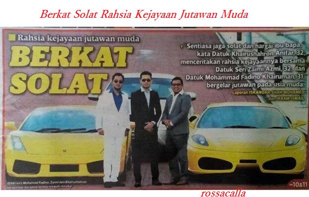 Rahsia Kejayaan Jutawan Muda Malaysia
