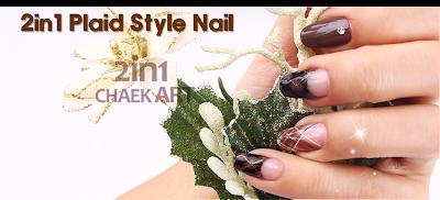 Plaid Style nail art
