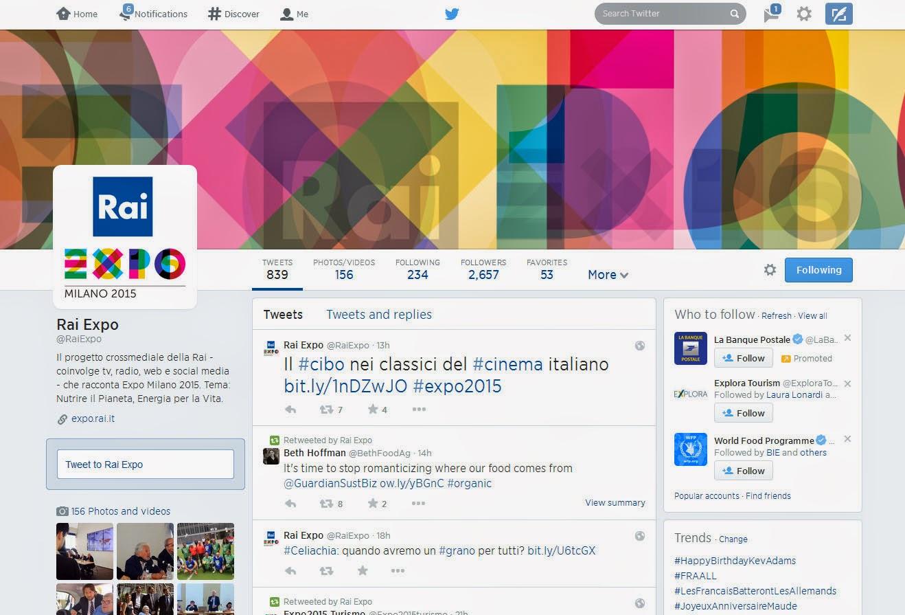 Rai Expo Twitter