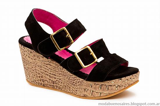 Sandalias con plataformas Laura Constanza verano 2014 colección.