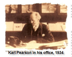 Karl Pearson in his office, 1934