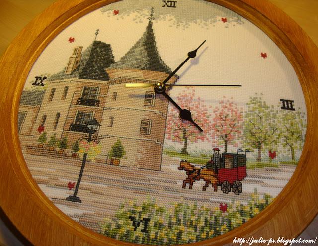 Castle Clock часы, часы с вышивкой, вышитый циферблат