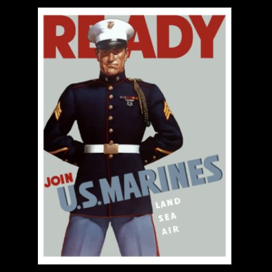 marine corps ready poster