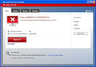 Security Essential threat detection screen Shot