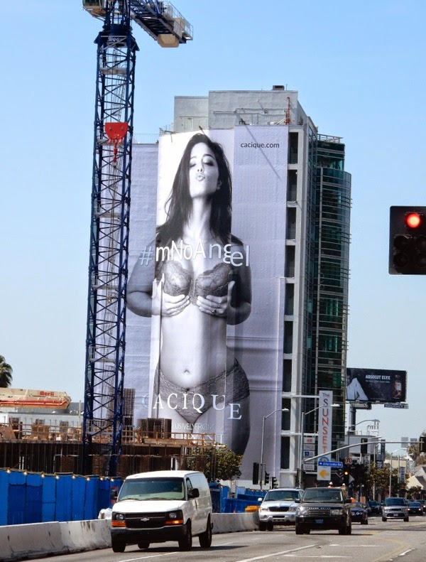 Lane Bryant Cacique lingerie billboard