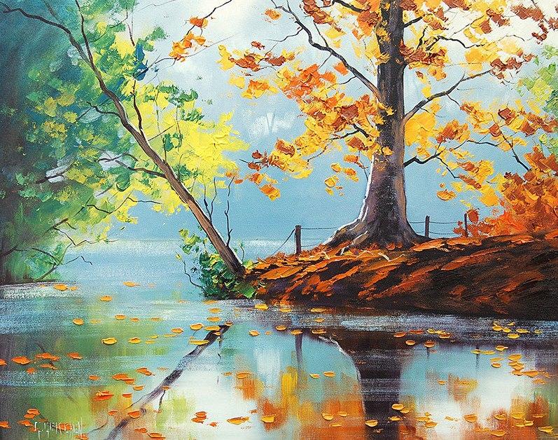 Pinturas que me gustan my way arboles impresionistas - Pinturas al agua ...