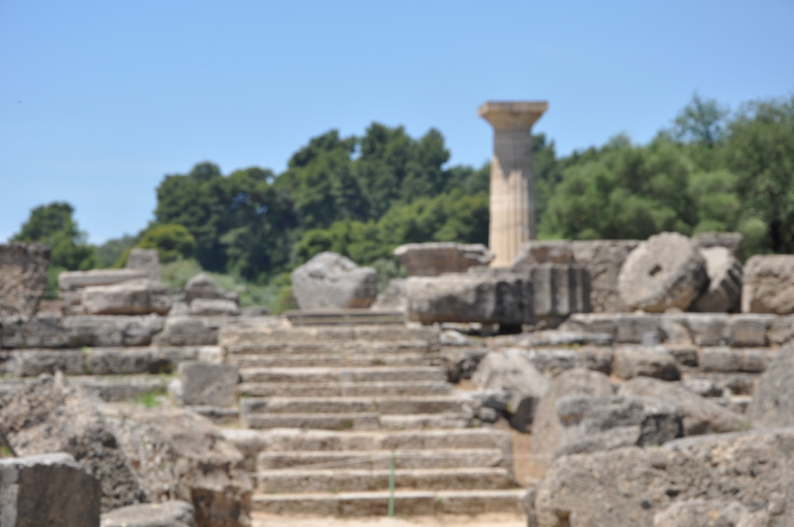 Olympia Greece Ancient Greek Temple Of Zeus