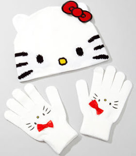 Hello Kitty winter hat and gloves