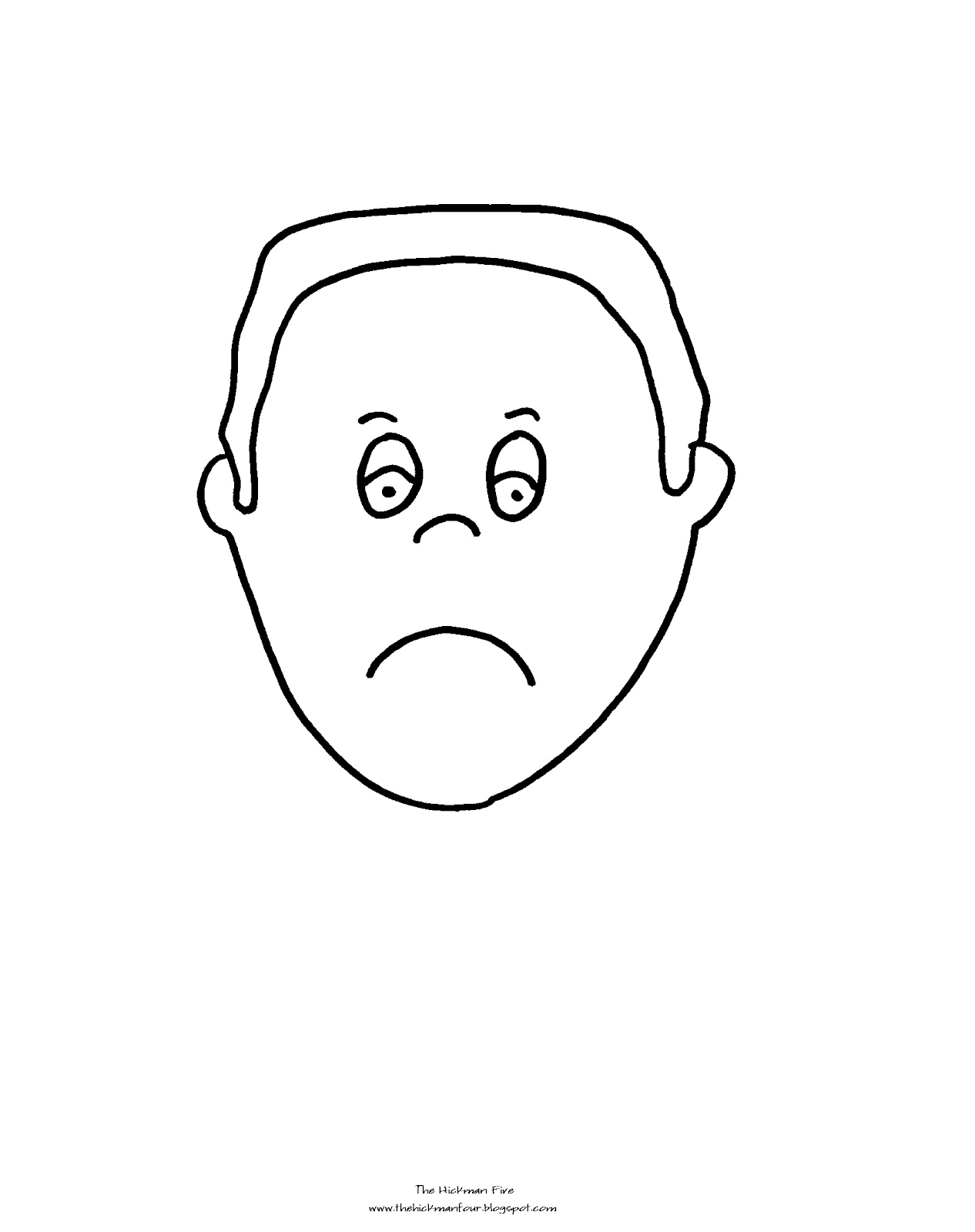 Free Emotions Faces Coloring Pages