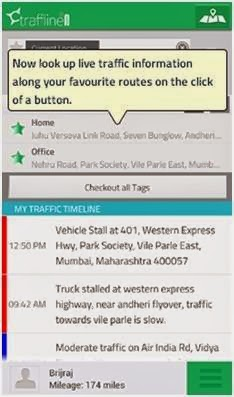 Traffline screenshot from android device