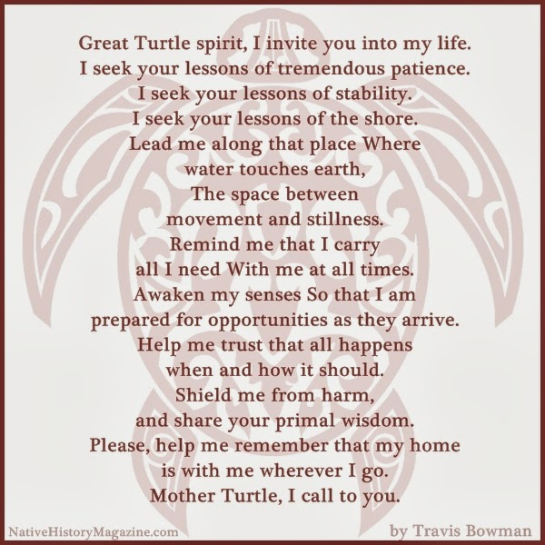 Native American Turtle Prayer