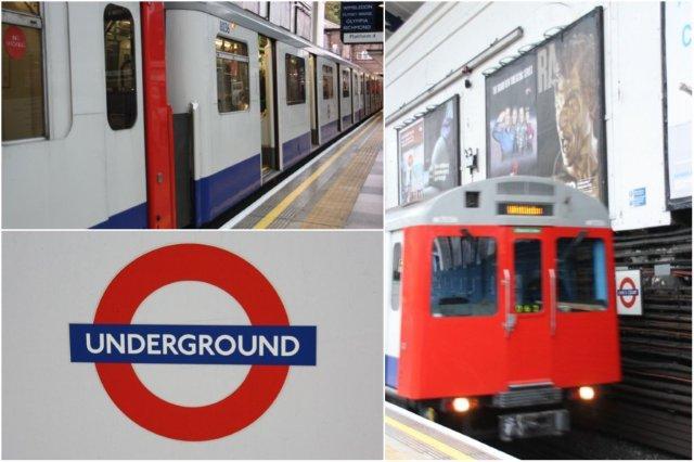 Vagones de metro en Londres – Símbolo del metro en Londres, London Underground