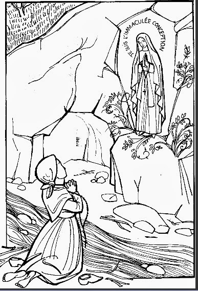 our lady of lourdes coloring page our lady of lourdes coloring page