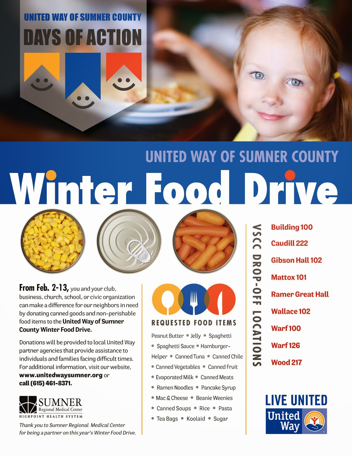 State virtual community you can help united way winter food drive