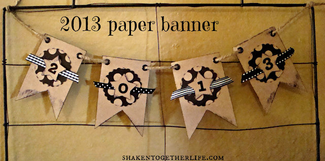 easy New Years 2013 paper banner