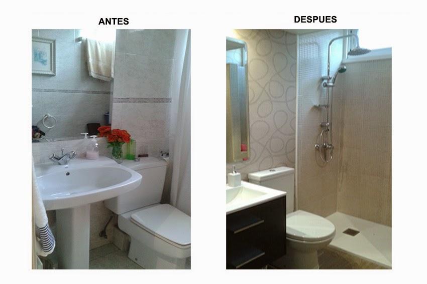 Marta decoycina antes y despues con poca obra - Pintar azulejos de bano antes y despues ...