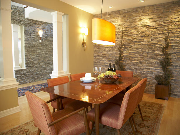 Impressive Dining Room with Stone Wall 616 x 462 · 60 kB · jpeg