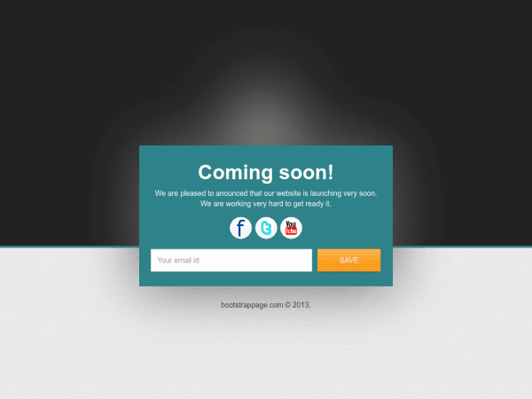 Free bootstrap coming soon template