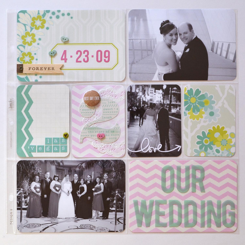 Scrapbook ideas las vegas - Wedding Album Title Page