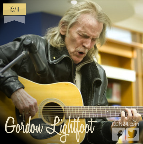 16 de noviembre | Gordon Lightfoot - @Lightfoot365 | Info + vídeos