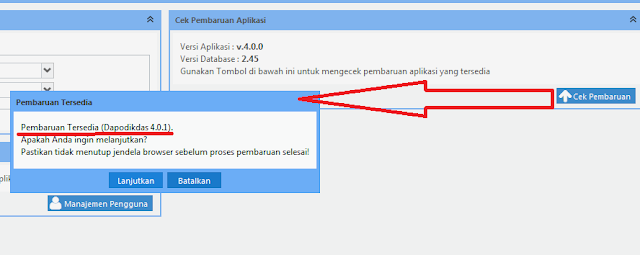 Cara Update Aplikasi Dapodikdas 4.00 menjadi Versi 4.0.1