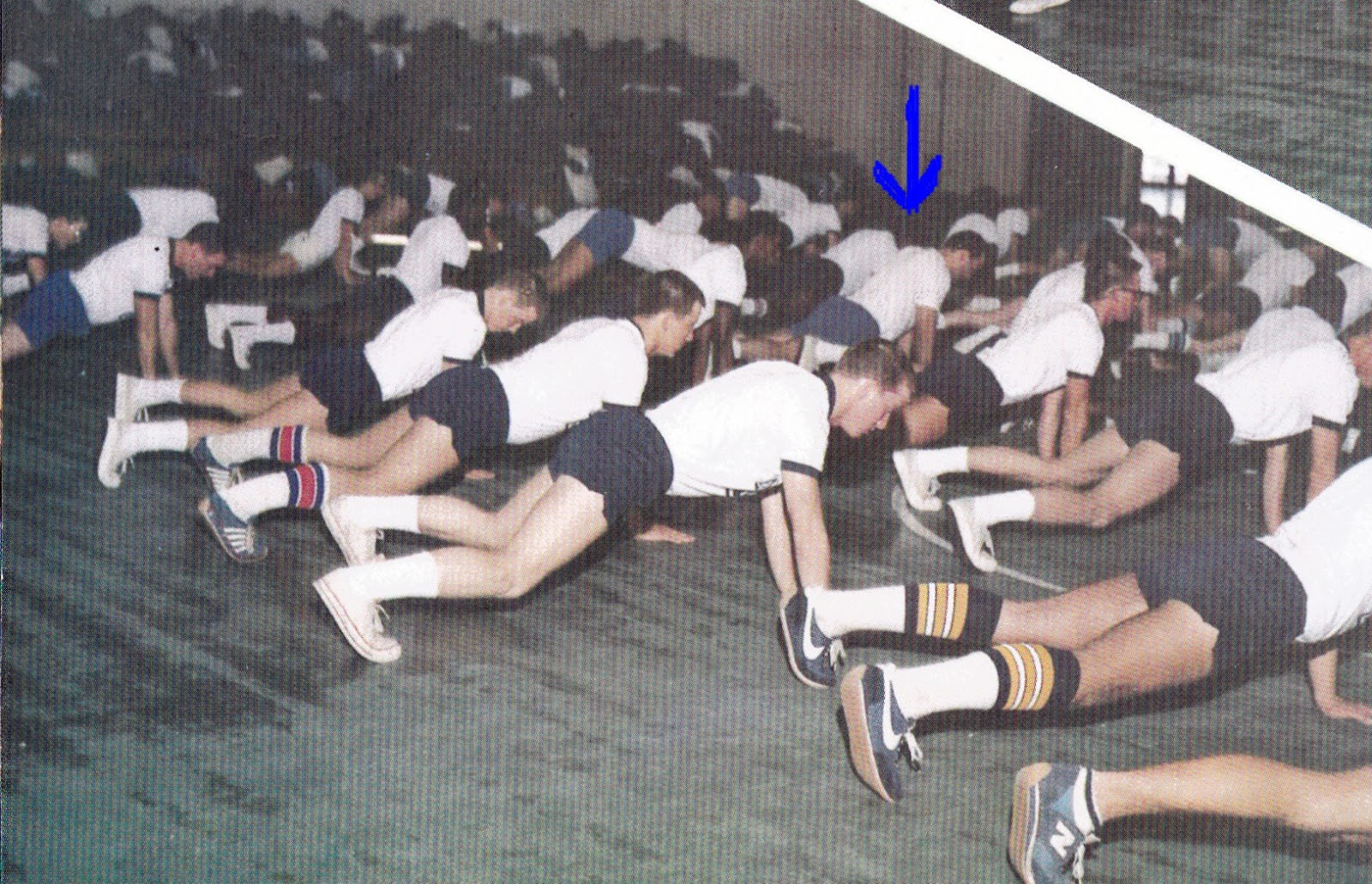 Tommy Mondello doing calisthenics navy boot camp
