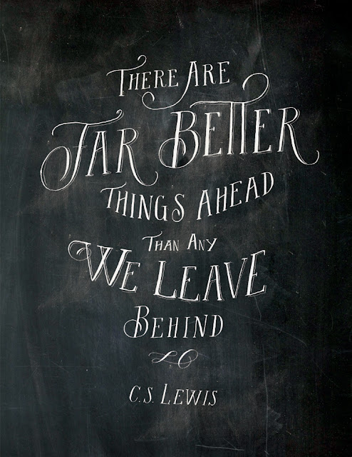 far better things ahead... illustration by Molly Jacques - words by cs lewis