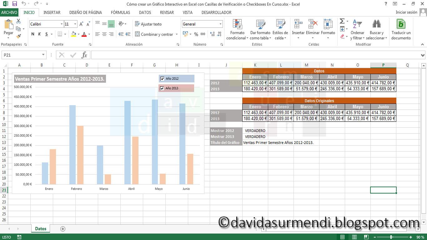 Gráfico Interactivo en Excel.