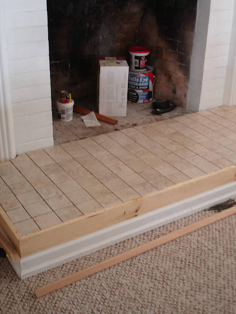 diy fireplace mantel and hearth makeover fox hollow cottage rh foxhollowcottage com how to build a stone fireplace hearth how to build a brick fireplace hearth