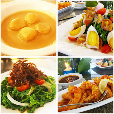 Mango Tours Baler Aurora Costa Pacifica Raintree Resort Cuisine Sticky Rice Balls Ensaladang Pako Pako de Bahia Garlic Chili Prawns