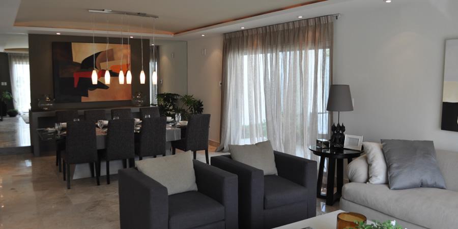 Casas en venta y departamentos casa muestra modelo ebano for Modelos de sala comedor