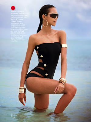 Lais Ribeiro shows in sexy bikini body in Elle Magazine