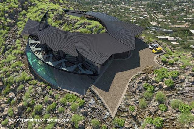 Residencia ultra-moderna de diseño orgánico en Estados Unidos