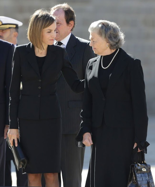Spanish Royals  attends the Funeral Mass (Corpore Insepulto Mass) for Carlos de Borbon Dos Sicilias