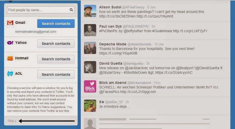 Cara Membuat Twitter dan Daftar Twitter gambar 6
