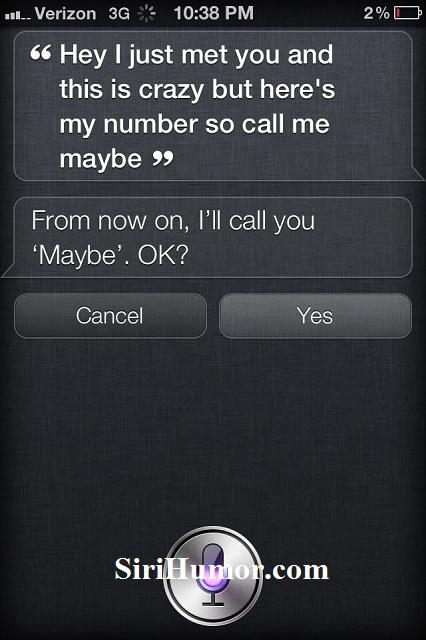 siri humor siri call me maybe