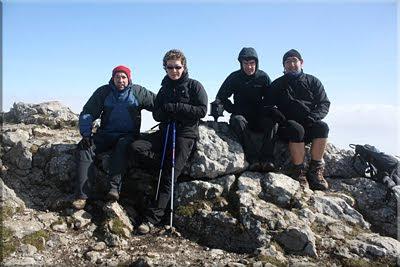 Aratz mendiaren gailurra 1.443 m. - 2011ko martxoaren 20an