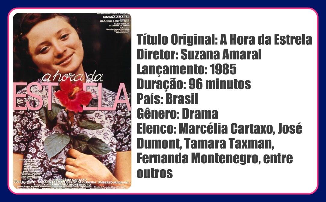 Resumo Da ópera Leia O Livro Veja O Filme A Hora Da Estrela