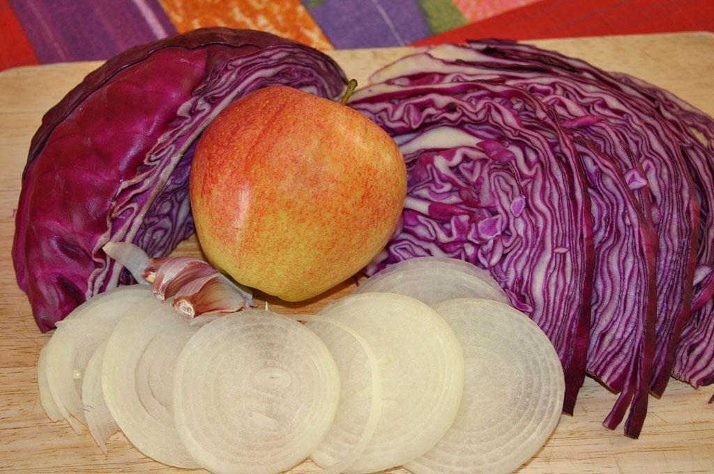 Cocina en olla rapida lombarda con manzana for Cocinar lombarda