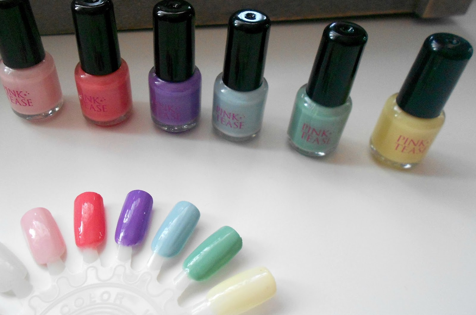 makeup rumours haul nail polish pastel
