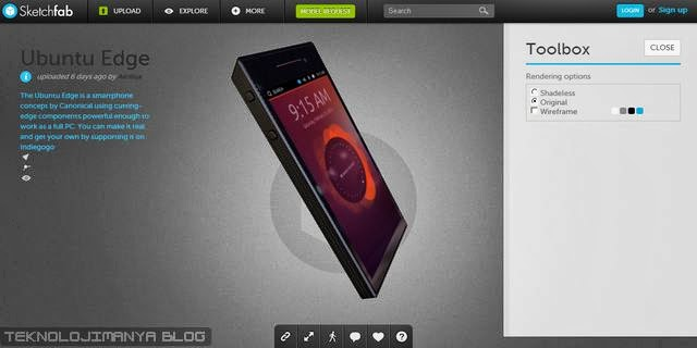 Ubuntu Edge Sketchfab 3D