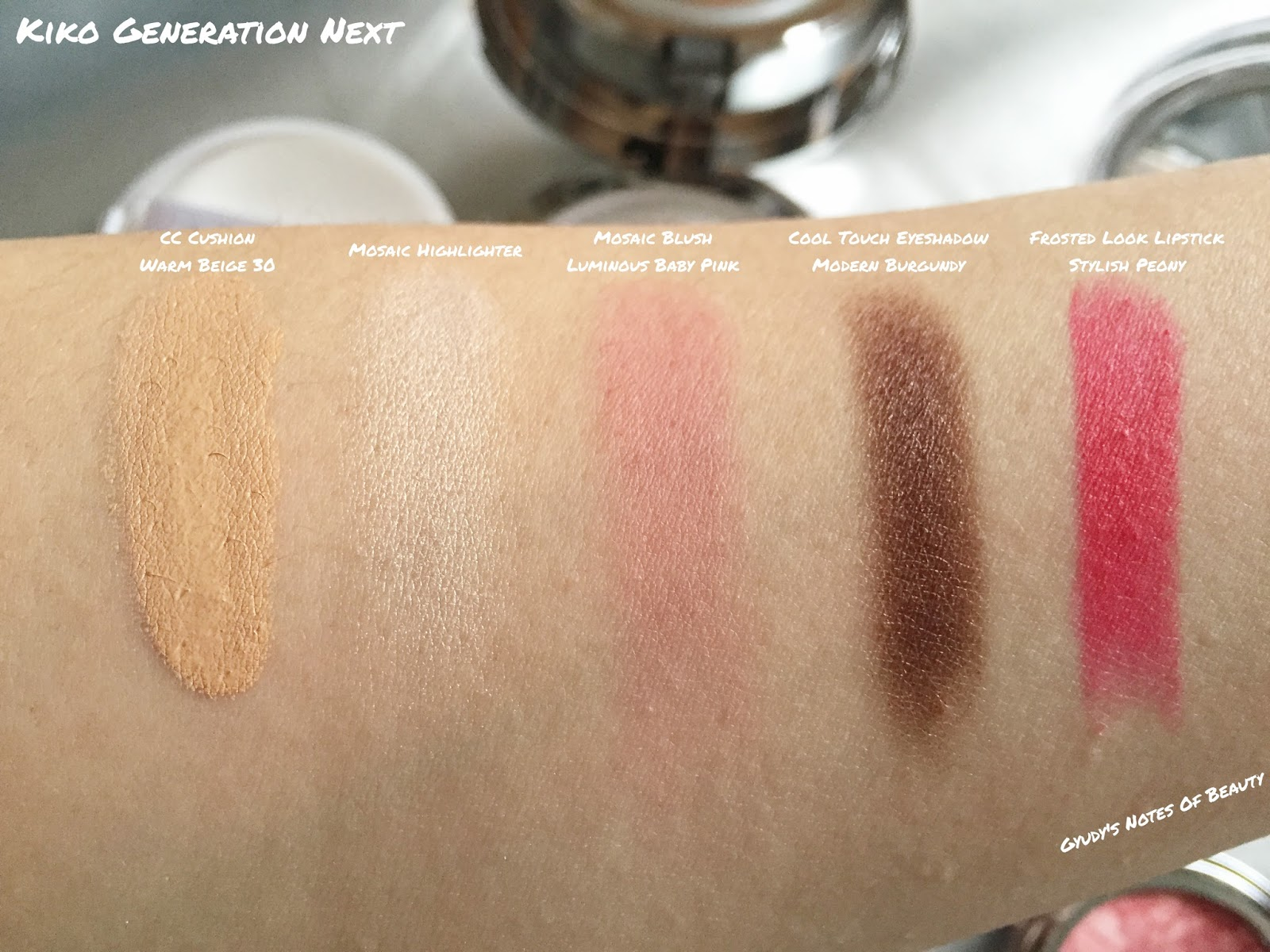 Kiko Generation Next Swatches