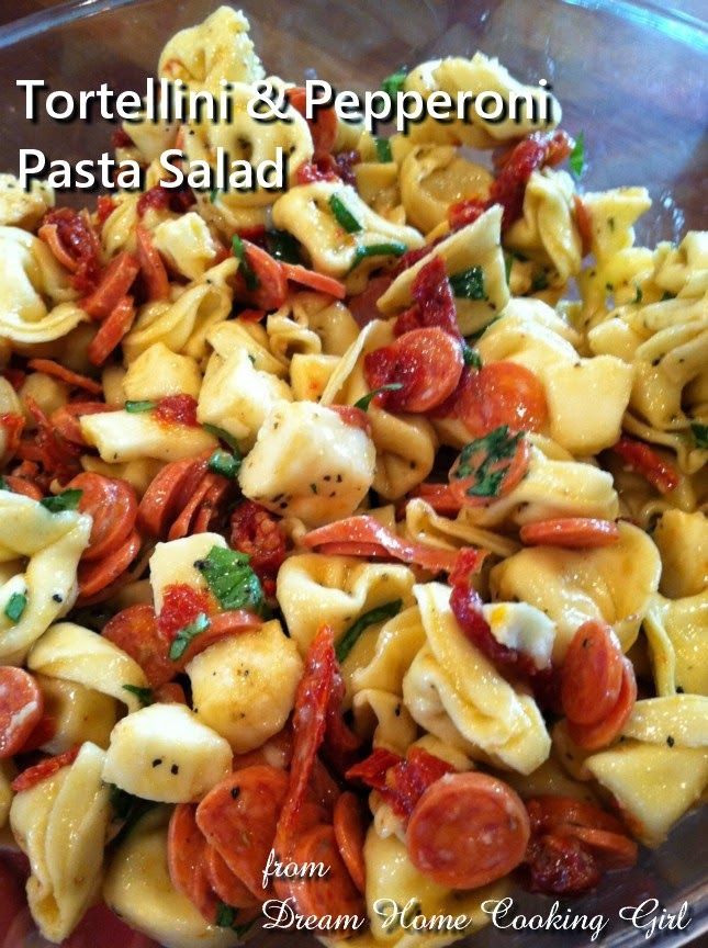 Tortellini & Pepperoni Pasta Salad @ Dream Home Cooking Girl