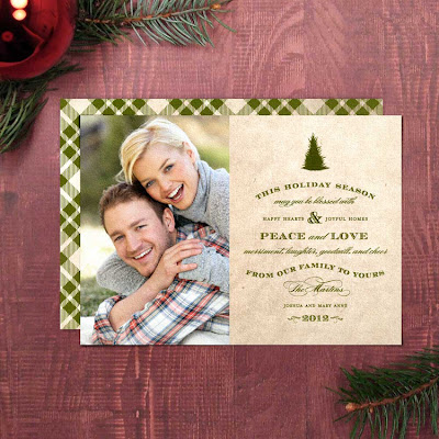 printable diy holiday christmas vintage photo card greeting