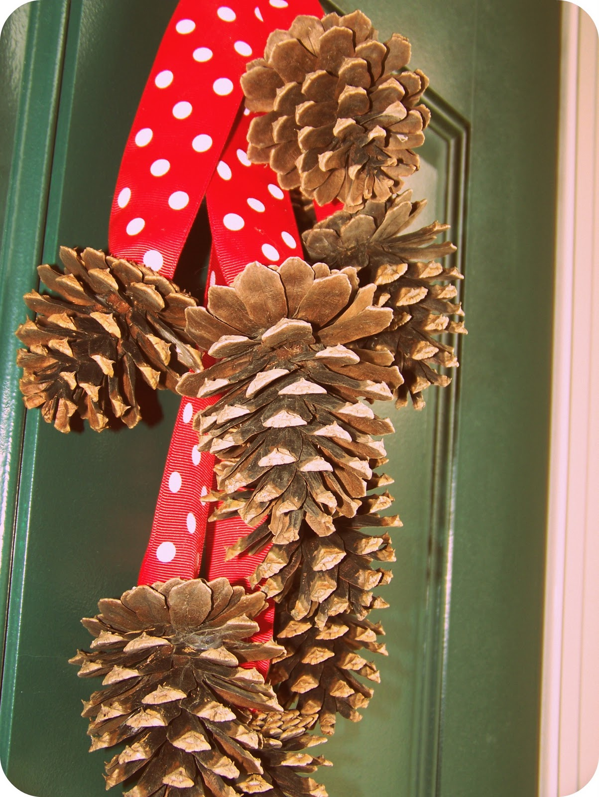 crazy for crafts pine cone wall hanging. Black Bedroom Furniture Sets. Home Design Ideas