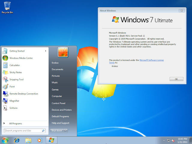 Windows 7 Ultimate SP1 Lite V.2.0 Español Nativo By Fanta [ISO-X32