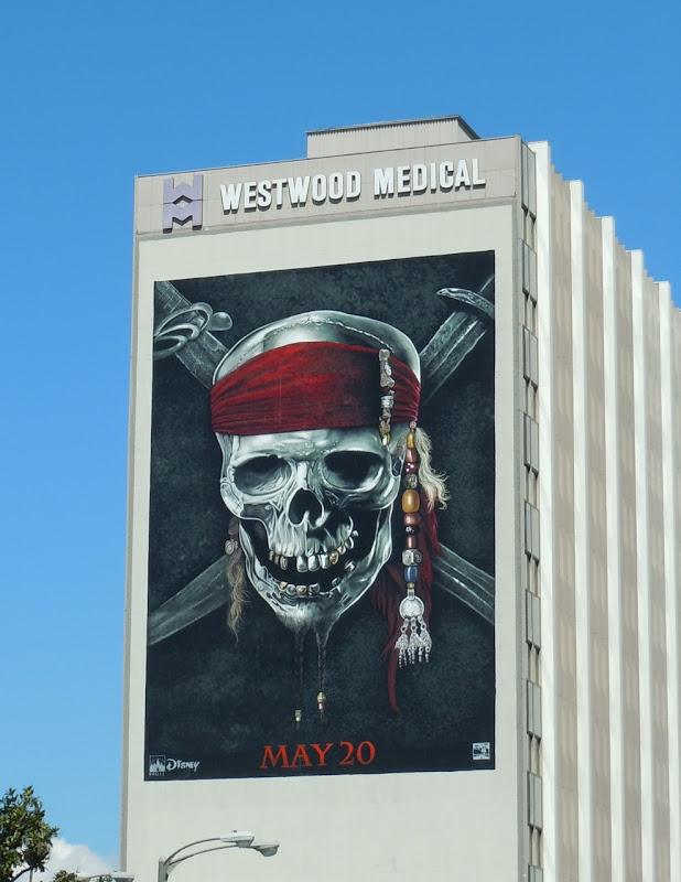Pirates of the Caribbean 4 Skull billboard